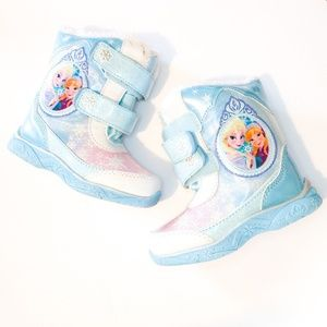 Disney Frozen Light Up Snow Boots Toddler Size 7